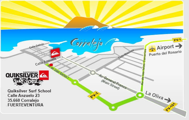 Quiksilver Surfschool Fuerteventura - Corralejo The Canary Islands